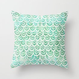Watercolor Mermaid Throw Pillow