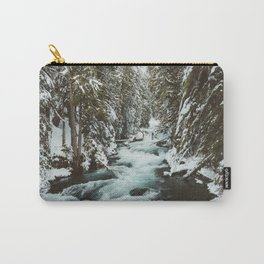 The Wild McKenzie River Portrait - Nature Photography Carry-All Pouch