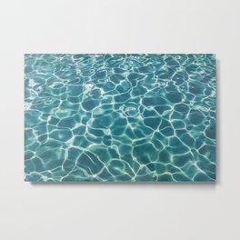 crystal blue sea Metal Print