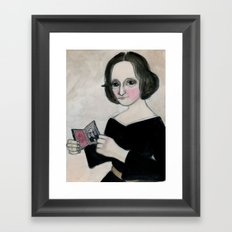 Mary Shelley and the Monster Framed Art Print