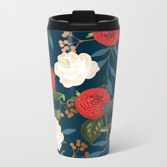Floral Obsession || #society6 #decor #buyart Metal Travel Mug