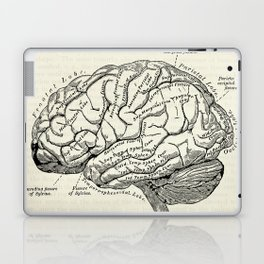 Vintage medical illustration of the human brain Laptop & iPad Skin