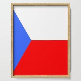flag of Czech 2 -Czechia,Česko,Bohemia,Moravia, Silesia,Prague. Serving Tray