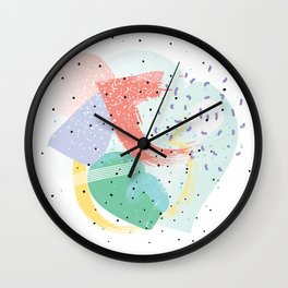 90's abstraction Wall Clock