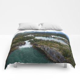 Monkman Cascades Comforters