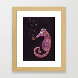 Mr. Pipe Fish Framed Art Print