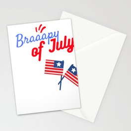 Braapy Fourth of July - July 4th Motocross Shirts - Moto MX Stationery Cards