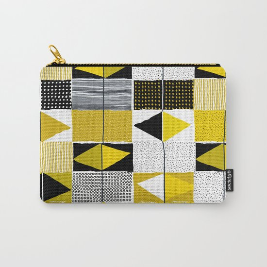diamond pattern 034 Carry-All Pouch