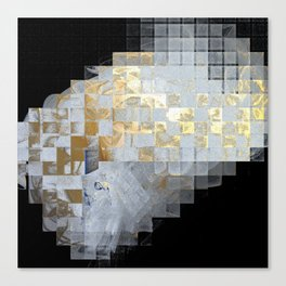 Squares in Gold and Silver Canvas Print