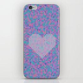 Heart Knit I iPhone Skin