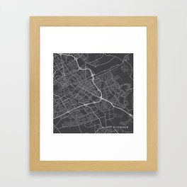 Kitchener Map, Canada - Gray Framed Art Print