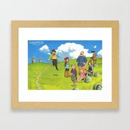 Oppa Ghiblistyle Framed Art Print