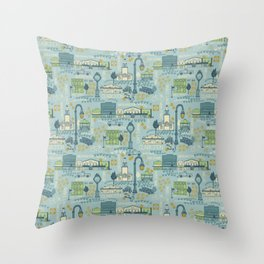 Village of Clarkston Main Street Throw Pillow