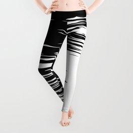 Carefree Black and White Leggings