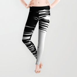 Carefree Black and White Leggings