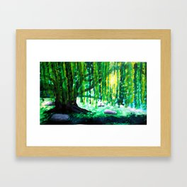 Don't Weep Willow Framed Art Print
