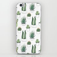 succulent iPhone & iPod Skins featuring watercolour cacti and succulent by Vicky Webb