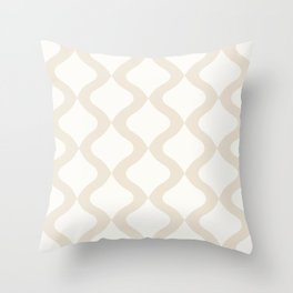 Alva Pattern - Coconut Throw Pillow