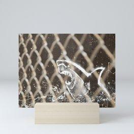 Shark fence Mini Art Print