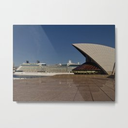 Cruise Ship In Sydney Metal Print