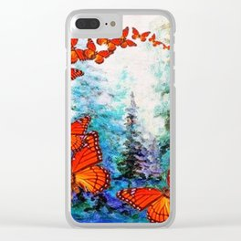 ORANGE MONARCH BUTTERFLIES FOREST MIGRATION Clear iPhone Case