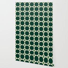 Big Dark Green and Small Light Green Circles Wallpaper
