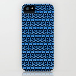 Dividers 02 in Blue over Black iPhone Case