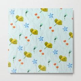 Seamless colorful flowers pattern Metal Print