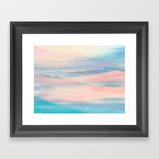 Tulle Mountains 2 Framed Art Print