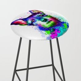 Terrier digital art Bar Stool