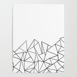 Ab Peaks White Poster