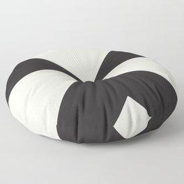 Split X Black Floor Pillow