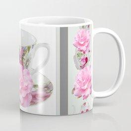 ABSTRACTEd PINK ROSE TEA TIME PORCELAIN ART Coffee Mug