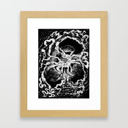 Live elves and fairies in a ring Framed Art Print