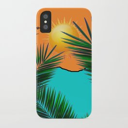 Palm in the sun iPhone Case