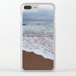High by the beach Clear iPhone Case