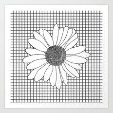 Daisy Grid Art Print