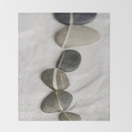 zen pebble line Throw Blanket