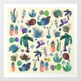 tropical vibes Art Print
