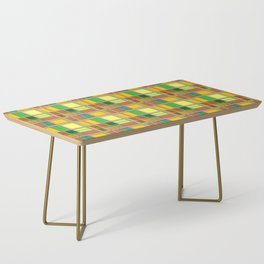 Caribbean Colorful Fabric Madras Tartan Coffee Table