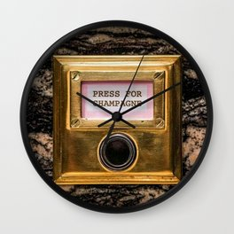 Champers Wall Clock