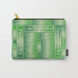 Las Vegas Street Signs Carry-All Pouch
