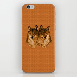 Season of the Wolf - Duet in Gold iPhone Skin
