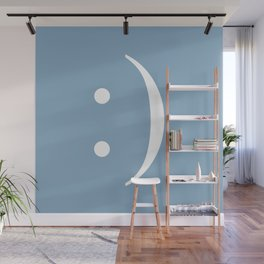 smiley sign on placid blue background Wall Mural