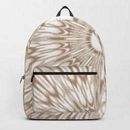 Beige Kaleidoscope Mandala Backpack