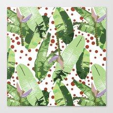 Beach Leaf Canvas Print