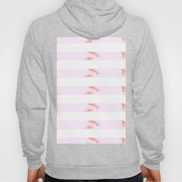 Pink Marble Stripes Hoody