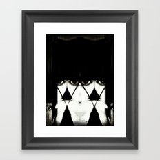 The Sisters Three, The Ones Who See: one spins, one weaves, one cuts. Framed Art Print