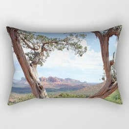 Arizona Horizon - Sedona Red Rocks Rectangular Pillow
