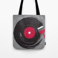 music Tote Bags featuring Art of Music by dan elijah g. fajardo